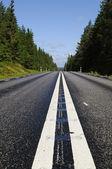 Carretera solitaria al atardecer — Foto de Stock