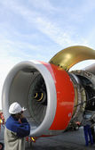 Airplanes and jet engines — Stock Photo