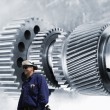 Gears, machinery and engineering - Stock Photo