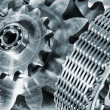 Gears and cogs driven by timing-chain - Stock Photo