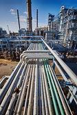 Raffineria di petrolio e gas — Foto Stock