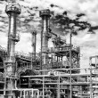 Stock Photo: Giant oil refinery panoramic