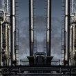 Giant oil refinery panoramic — Stock Photo #21553383