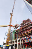 Hydraulic platform and construction industry — Stock Photo