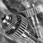 Titanium gears and cogwheels concept — Stock Photo