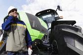 Bulldozer and driver — Stock Photo