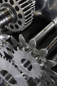 Titanium gears and cogwheels concept — Stock Photo