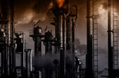 Oil, gas and fuel refinery industry — Stock Photo