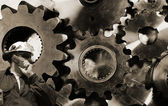 Gears and cogwheels — Stock Photo