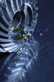 Aerospace titanium gears — Stock Photo