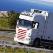 Stock Photo: Large truck driving scenic route
