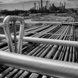 Stock Photo: Large pipelines construction