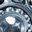 Stock Photo: Ball-bearings, gears and cogs close-ups