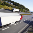 Trucking on large freeway — Stock Photo
