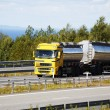 Fuel truck on the move — Stockfoto