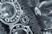 Ball-bearings, gears and cogs close-ups — Stock Photo
