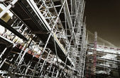 Giant scaffolding inside construction industry — Stock Photo