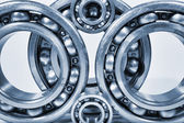 Titanium ball-bearings for aerospace — Stock Photo