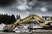 Giant bulldozers — Stock Photo