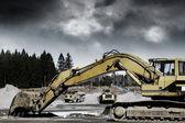 Giant bulldozers — Stock Photo