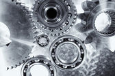 Ball bearings, pinion-gears set — Stock Photo