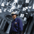 Engineering and technology, gears and cogs — Stock Photo #44476339