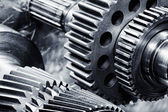 Power gears and cogs of titanium — Stock Photo