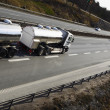 Tanker truck on the move — Stock Photo