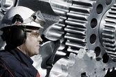 Engranajes de ingeniería y tecnología — Foto de Stock