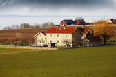 Old 17th century farm typical of Sweden — Stock Photo