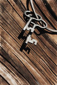 Old antique keys — Stockfoto