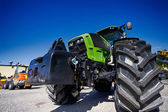 Modern farming tractor, latest hi-tech model — Stock Photo