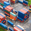 Stack of Freight Containers at the Docks - Stock Photo