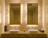 Interior design of a bathroom — 图库照片