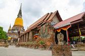 Old temple at Ayutthaya, Thailand. — Stockfoto
