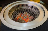Coals burning ready for the barbecue — Stock Photo