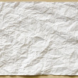 Stock Photo: White textured sheet of paper crumpled