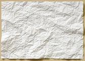 しわくちゃの紙の白いテクスチャ シート — ストック写真