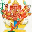 Stock Photo: God of success 1 of 32 posture. Indior Hindu God Ganeshavat