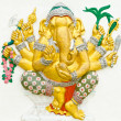 Stock Photo: God of success 9 of 32 posture. Indior Hindu God Ganeshavat