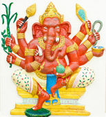 God of success 1 of 32 posture. Indian or Hindu God Ganesha avat — Stock Photo