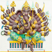 God of success 4 of 32 posture. Indian or Hindu God Ganesha avat — Stock Photo