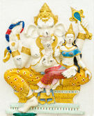 God of success 5 of 32 posture. Indian or Hindu God Ganesha avat — Stock Photo