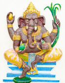 God of success 2 of 32 posture. Indian or Hindu God Ganesha avat — Stock Photo