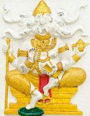 God of success 6 of 32 posture. Indian or Hindu God Ganesha avat — Stock Photo