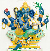 God of success 8 of 32 posture. Indian or Hindu God Ganesha avat — Stock Photo