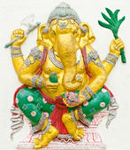 God of success 7 of 32 posture. Indian or Hindu God Ganesha avat — Stock Photo