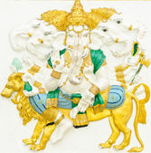 God of success 11 of 32 posture. Indian or Hindu God Ganesha ava — Stock Photo