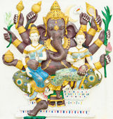 God of success 12 of 32 posture. Indian or Hindu God Ganesha ava — Stock Photo