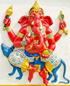 God of success 13 of 32 posture. Indian or Hindu God Ganesha ava — Stock Photo